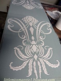 I finally accomplished two projects this week and this is one of them. I have wanted to try to do a raised stencil for a very long time, an...