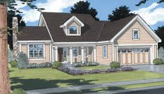 Country House Plan with 1697 Square Feet and 3 Bedrooms from Dream Home Source | House Plan Code DHSW49777
