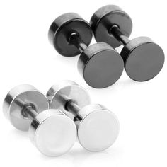 Men Unisex Body Jewelry Fake Illusion Tunnel Plug Faux Expander Stainless Steel Stud Earrings, 18 Gauge, Screw Back, Double Side *** Read more reviews of the product by visiting the link on the image.