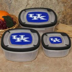 Kentucky Wildcats 3-Pack Square Food Containers #UltimateTailgate #Fanatics