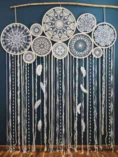 This stunning giant dream catcher wall hanging will become an unforgettable wedding decor centerpiece. It will set a bohemian mood and a free spirited vibe at your wedding. Absolutely beautiful and feminine, this crochet dreamcatcher wall hanging can be used as a ceremony backdrop, a photo backdrop or wall decor. If you are a bohemian bride or a girl who is love in love with a bohemian style, crochet and lace, you will really enjoy this wall art. It took so much work and love to create this…