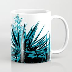 Yucca trees Mug by ARTbyJWP via redbubble Abstract composition of yucca tree tops. Yucca Tree, Tree Tops, Composition, Coffee Mugs, Trees, Abstract, Tableware, Summary, Dinnerware
