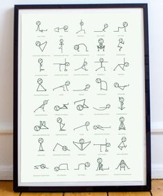 Figure Yoga Pose Print Cute, minimalist designed poster of stick figures doing yoga poses. Perfect for a yoga studio or home office.Cute, minimalist designed poster of stick figures doing yoga poses. Perfect for a yoga studio or home office. Yoga Studio Design, Yoga Room Design, Yoga Studio Home, Yoga Studio Decor, Pilates Studio, Studio Studio, Studio Ideas, Yoga Meditation, Meditation Space