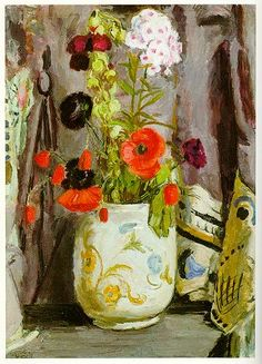 "Vanessa Bell, ""Poppies and Hollyhocks"" (ca. 1940)"