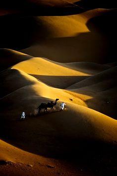 In the desert of Sahara