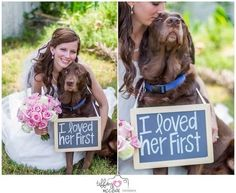 Online Photography Jobs - I was so lucky to be able to get pictures with Moose on my wedding day! And Tiffany McClure Photography did an amazing job! Dog Wedding, Wedding Goals, Wedding Pics, Fall Wedding, Dream Wedding, Lesbian Wedding, Sister Wedding Pictures, Wedding Albums, Wedding Vintage