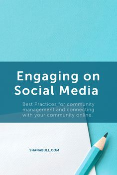 Engaging on Social Media - Best Practices for community management and connecting with your community online for social media marketers and small business owners. Successful Home Business, Home Based Business, Business Tips, Community Manager, Social Community, Engage On, Opening A Business, Writing A Business Plan, Best Practice