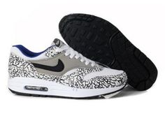 Nike Air Max 1 Men's New Shoe Grey White Black