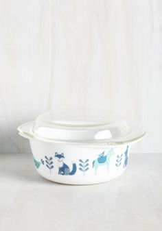 To Eats Their Own Baking Dish in Fauna - Large. Your unique culinary treats deserve a display thats just as great - namely, this glass baking dish! #white #modcloth