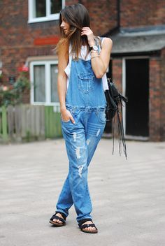 overalls (with different shoes)