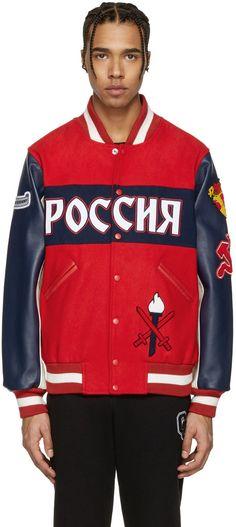 OPENING CEREMONY Red Russia Global Varsity Jacket. #openingceremony #cloth #jacket