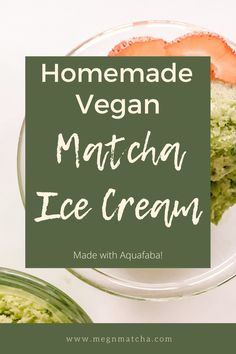 This matcha ice cream is so simple and delicious! This homemade ice cream is one of my favorite vegan desserts- and it uses aquafaba as a vegan substitute! Dairy free and vegan makes this healthy matcha recipe one you'll love to make over and over again. Matcha green tea for the win! This is no churn ice cream too that is so creamy! #matchaicecream #aquafaba #aquafabaicecream #matcha #matchalatte #vegandessertideas #dairyfreedessert Matcha Ice Cream, Matcha Green Tea Powder, Clean Eating Recipes, Easy Healthy Recipes, Vegan Recipes, Vegan Substitutes, Recipe For Teens, Aquafaba, Help Losing Weight