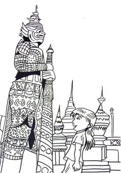 Children Coloring Books Unique Thailand Coloring Page Thai Child Kid Girl Statues Ninja Turtle Coloring Pages, Cat Coloring Page, Bible Coloring Pages, Printable Coloring Pages, Coloring Pages For Kids, Coloring Books, Around The World Crafts For Kids, Art For Kids, Thailand Flag