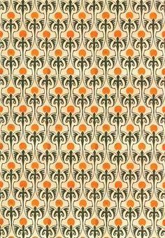 Bernhard Wenig, Textile design, c1901.  German illustrator and graphic artist and designer Bernhard Wenig  reproduced in 'Deutsche Kunst und Dekoration'
