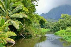 The picturesque Sittee River with Mayan Mountains in the background in Stann Creek District Belize