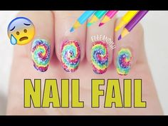 NAIL FAIL: DIY Nail Art Using Colored Pencils - http://www.nailtech6.com/nail-fail-diy-nail-art-using-colored-pencils/