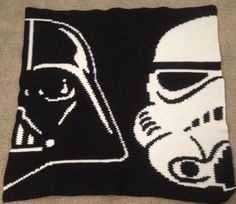 Stormtrooper star wars granny crochet pixel blanket only photo looking for crocheting project inspiration check out darth and storm trooper by member colleenb8806 publicscrutiny Gallery
