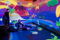Innovation and creative interactive playground for children from 3 to 10 years (located in Moscow). We created a magical cartoon space where children can autonomously… Interactive Projection, Interactive Exhibition, Interactive Walls, Interactive Display, Interactive Media, Interactive Installation, Projection Mapping, Interactive Design, Installation Art