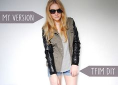 This Fashion Is Mine: DIY Leather Sleeved Parka Jacket
