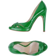 Casadei Pump ($515) ❤ liked on Polyvore featuring shoes, pumps, green, stiletto pumps, open-toe pumps, open toe stilettos, green leather shoes и leather sole shoes