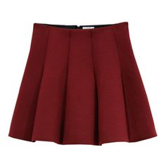 Outstanding Ordinary Burgundy Skater Skirt ($60) ❤ liked on Polyvore featuring skirts, burgundy circle skirt, skater skirts, red skirt, flared skirt and circle skirts