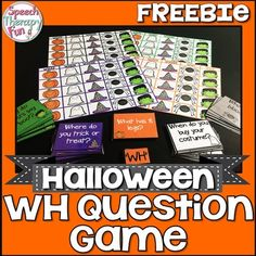 Halloween WH Question Game addresses 5 different WH questions (What, Why, When, Where and Who)!