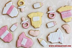 baby shower cookie design  Tips To Remember When Decorating For A Baby Shower