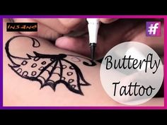 How To Draw A Butterfly Tattoo | Sexy Tattoo For Girls - YouTube