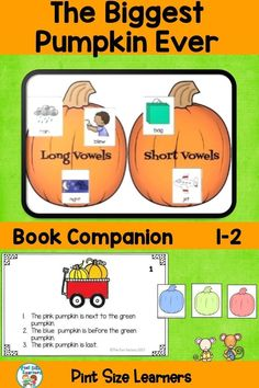 Your second and third-grade students will enjoy this book and these activities during the Fall/Halloween season in October. Five days of reading lesson plans, center activities and worksheets are included in this book companion for The Biggest Pumpkin Ever. Activities include vocabulary, retelling, an anchor chart for the life cycle of a pumpkin, word work, fact and opinion, and a critical thinking activity. Color and black and white versions of all center activities.
