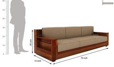 Buy Marriott 3 Seater Wooden Sofa (Honey Finish) Online in India - Wooden Street - Ikea Furniture, Pallet Furniture, Furniture Plans, Bedroom Furniture, Furniture Design, Furniture Websites, Furniture Buyers, Furniture Cleaning, Furniture Assembly