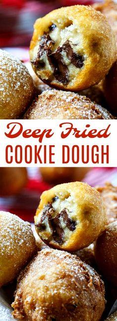 Deep Fried Cookie Dough #cookiedough