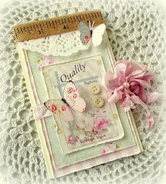 Creating from the Heart: ♥ Shabby Butterflies and Buttons ♥