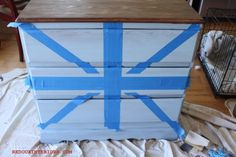The Union CeCe, or my interpretation of Jack - Union Jack Dresser, Striped Dresser, Entryway Tables, Google Search, Furniture, Home Decor, Decoration Home, Room Decor, Home Furnishings