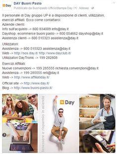 Contatta #Day, ecco i riferimenti per poter avere informazioni su #buonipasto, #buoniregalo #welfare