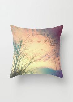Sunset Totoro Pillow Cover | dotandbo.com