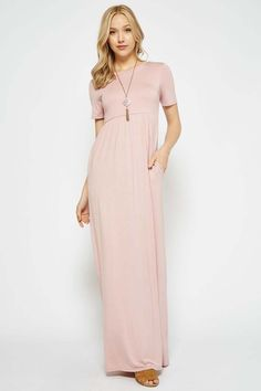 e6c755ff2a3 Solid Daily Maxi Dress   Dusty Pink. GOZON Boutique