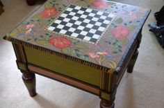 Painted Coffee Table by Luisa Cassella