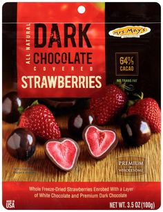 Amazon.com : Mrs. May's Whole Dark Chocolate Rounds, Strawberry, 3.5 Ounce (Pack of 6) : Chocolate Assortments And Samplers : Grocery & Gourmet Food