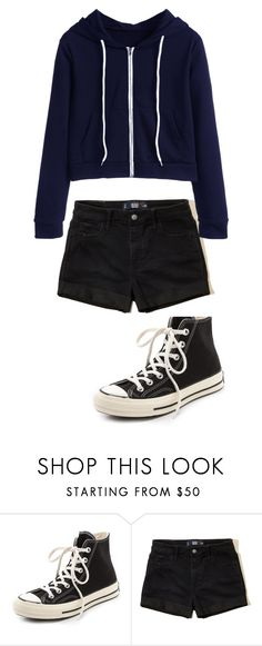 """""""Untitled #950"""" by aaisha123 ❤ liked on Polyvore featuring Converse and Hollister Co."""