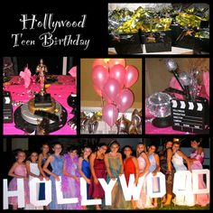 Hollywood theme birthday party