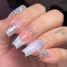 Coffin Nails Ombre, Trendy Nails, Nail Art Designs, Lei, Erika, Beauty, Barbie, Tumblr, Glow Nails