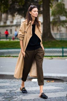 classic wardrobe outfit trench coat