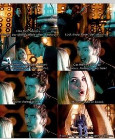 Love Rose Tyler & the Doctor! Doctor Who rules! Rose Tyler, Dr Who, Serie Doctor, 10th Doctor, Out Of Touch, Fandoms, Don't Blink, Bad Wolf, Film Serie