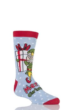 bd1fb4eb371 Kids 1 Pair SockShop Dare To Wear Christmas Socks - Santa s Elf