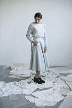 Winter look Wool skirt