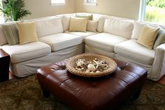 Sectional Sofas in Small Spaces | Stretcher.com - How to fit a sectional sofa into a smaller room.