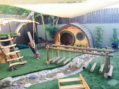 Natural playground at Kids Collective Preschool