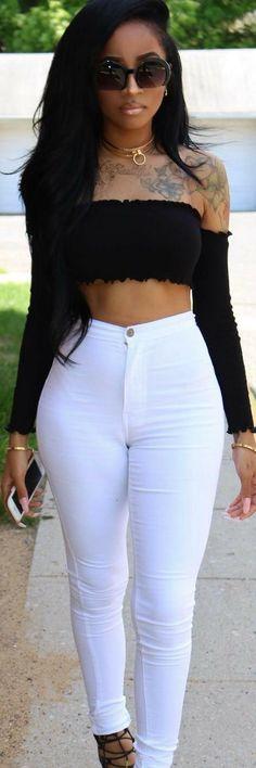 Fashion Nova Top & Jeans // Fasnion Look by @ms_bentivegas