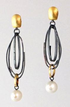 ER239 Long Scribble earrings by Sydney Lynch  $460.00