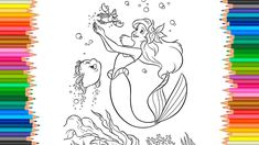 The Little Mermaid Coloring Pages Flounder, Sebastian and Ariel Coloring...
